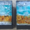 2 x Acryl auf Leinwand, 20 x 20 cm