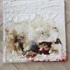 Marmormehl und Acryl auf Leinwand, 40 x 40 cm