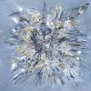 Acryl mit Stroh auf Leinwand 80x80 cm (Privatbesitz)