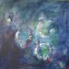 Acryl mit Stroh auf Leinwand 80x80 cm