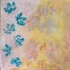 Stoff und Acryl auf Leinwand 80x80 cm (Privatbesitz)