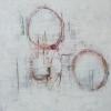 Acryl auf Leinwand mit Kunstharz 80x80 cm